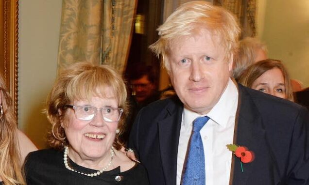 Boris Johnson andd her mom, Charlotte Johnson Wahl
