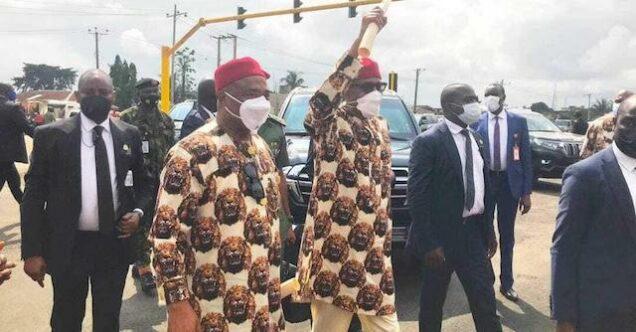 Buhari in Imo with Governor Uzodimma