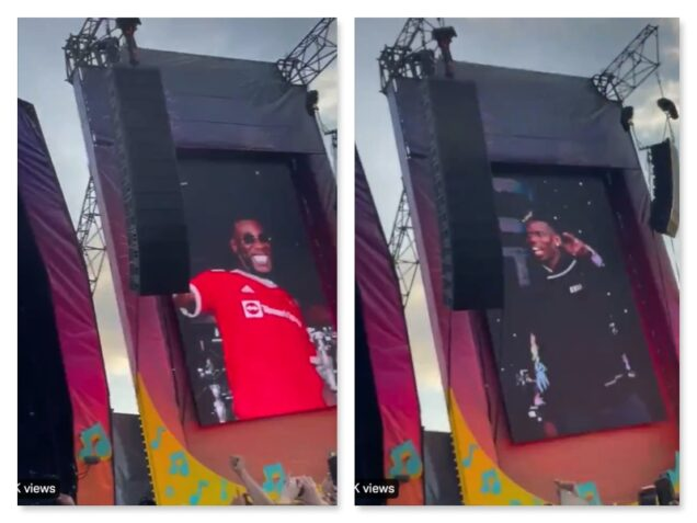Burna Boy and Pogba on stage at Parklife Festival in Manchester