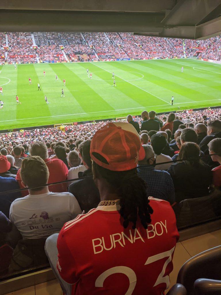 Burnaboy at Old Trafford on Saturday