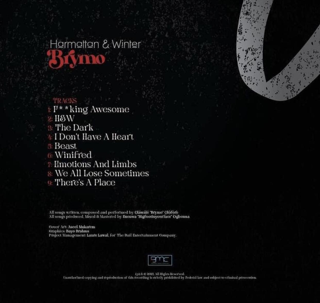 Brymo - Harmattan and Rain Tracklist