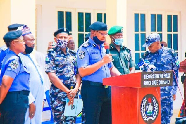 CP Sylvester Alabi briefs the media on the protest in Bauchi