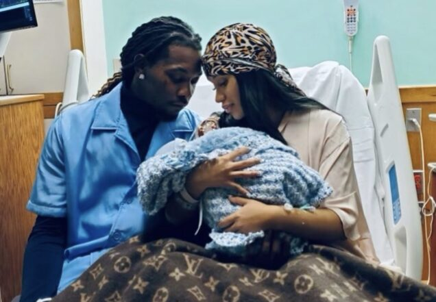 Cardi B and Offset with their baby boy