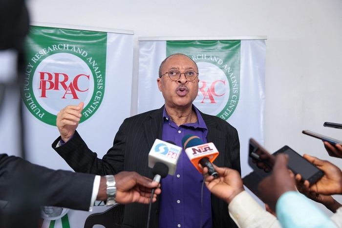 Chairman, Selection Committee, Professor Pat Utomi while announcing the 2020 ZIK prize winners in Lagos, earlier today.