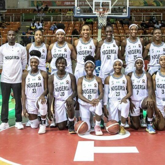 D'Tigress squad at 2021 Afrobasket championship