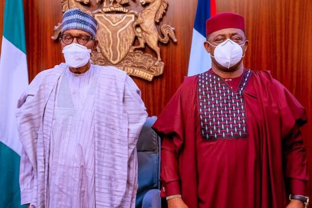 Femi Fani-Kayode with President Buhari on Thursday