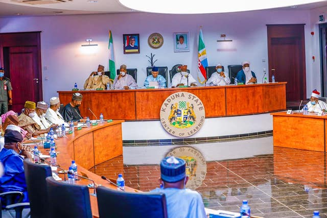Governor Simon Lalong, chairs the meeting of Northern Governors Forum