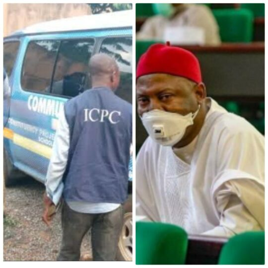 Hon Vincent Ofumelu busted:  ICPC uncovers empowerment materials he concealed in 2 years