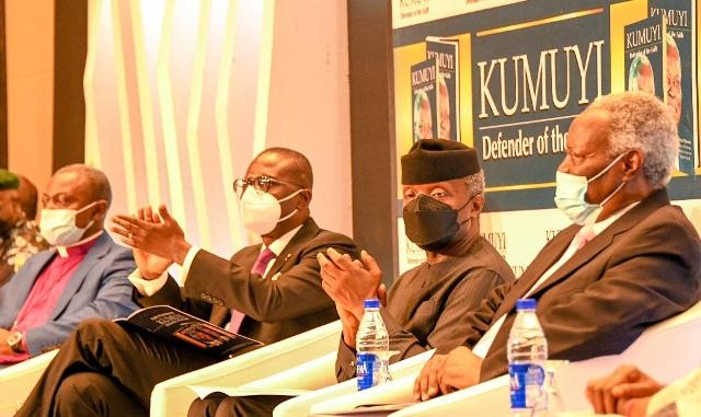 L-R: Prof. Asaju, Sanwo-Olu, Prof. Osinbajo and Governor Sanwo-Olu at the event