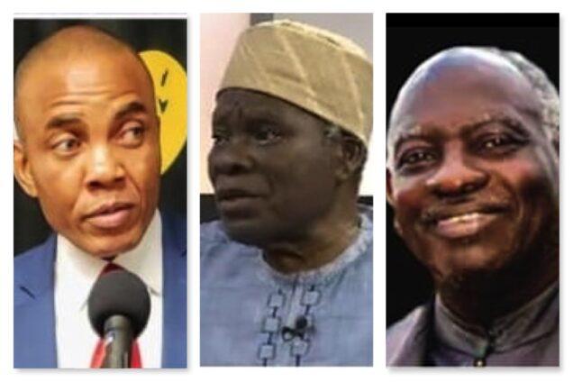 L-R, Nnadi, Akintoye, Turaki, leaders of Separatist group NINAS planning protest at UN this week