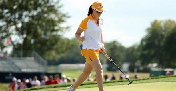 Leona Maguire from Ireland, unbeaten during the tournament