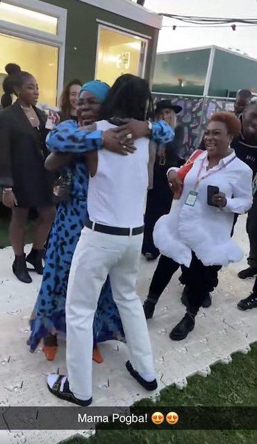 Mama Pogba, Burna Boy and Mama Burna
