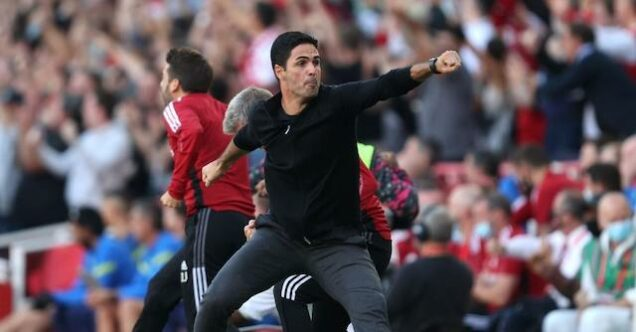 Mikel Arteta in rapture after Arsenal win over Spurs
