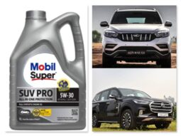 Mobil Super SUV Pro synthetic engine oil.