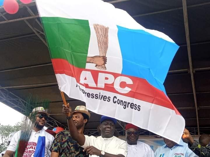 Odey gets the APC flag as well