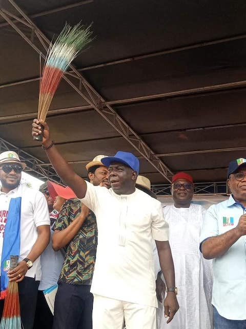 Odey with APC broom