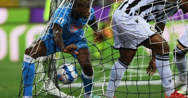 Osimhen, right, opened the goal rush for Napoli