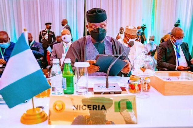 Osinbajo at the ECOWAS summit