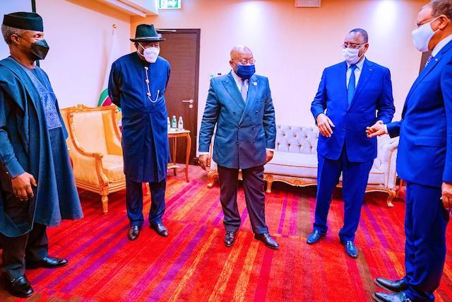 Osinbajo, Jonathan, ECOWAS chairman Akufo-Adddo and two other leaders