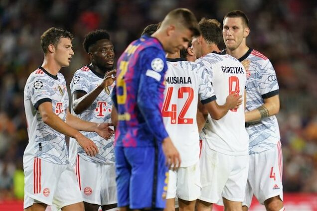 Gerard Pique dejected after Bayern mauled Barcelona again