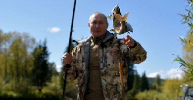 Putin catches some fish