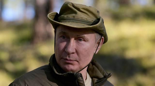 Putin on vacation in Siberia