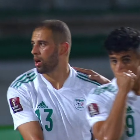 Slimani scores 4 goals against Djibouti