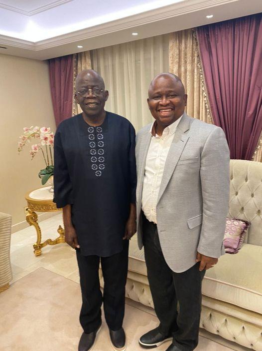 Olamilekan Solomon with Tinubu in London