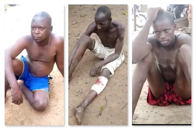 Some of the bandits arrested by Kogi Vigilantes