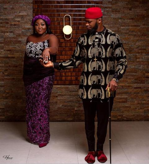 Nze and Obasi during their traditional marriage
