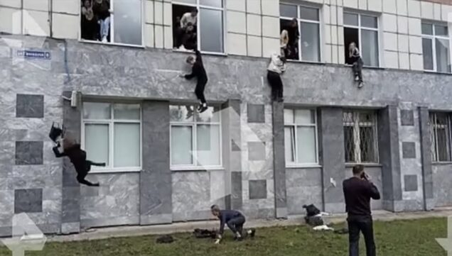 Terrified students jump out of windows at Perm State University