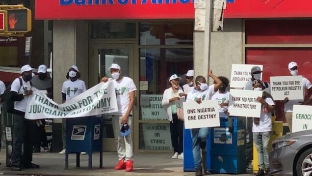 The Buhari hired African American supporters in New York