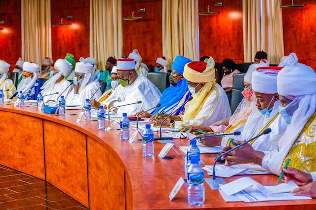 The northern traditional rulers at the meeting