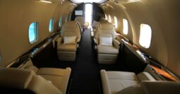 The redesigned interior of Bombardier Challenger 350 PJ