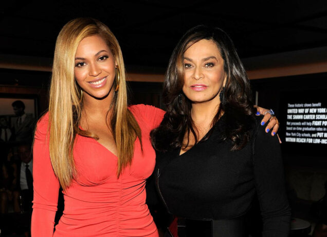 Tina Knowles, right and daughter Beyonce