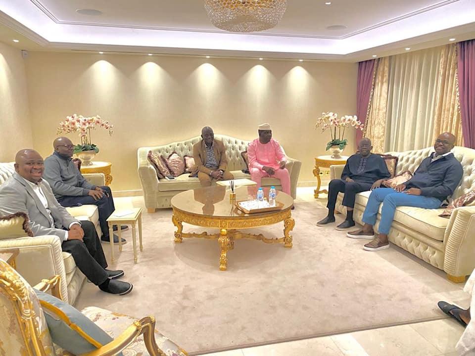 APC senators with Tinubu in London