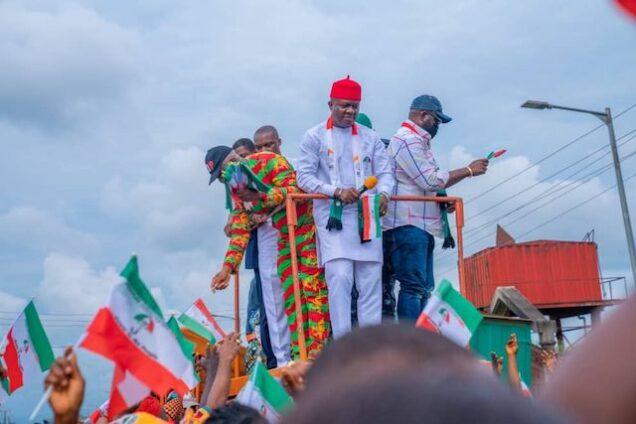 Valentine Ozigbo on the campaign trail