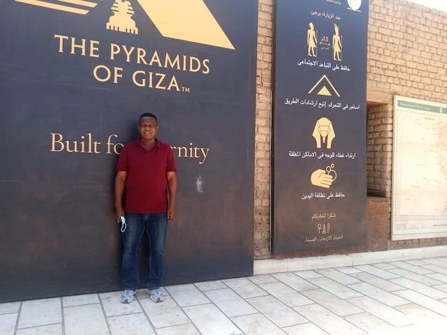 Wale Okediran at Pyramids of Giza
