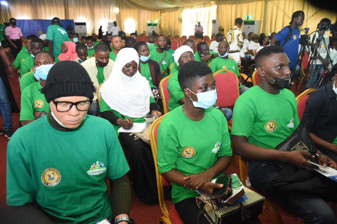 A cross section of youths at the event