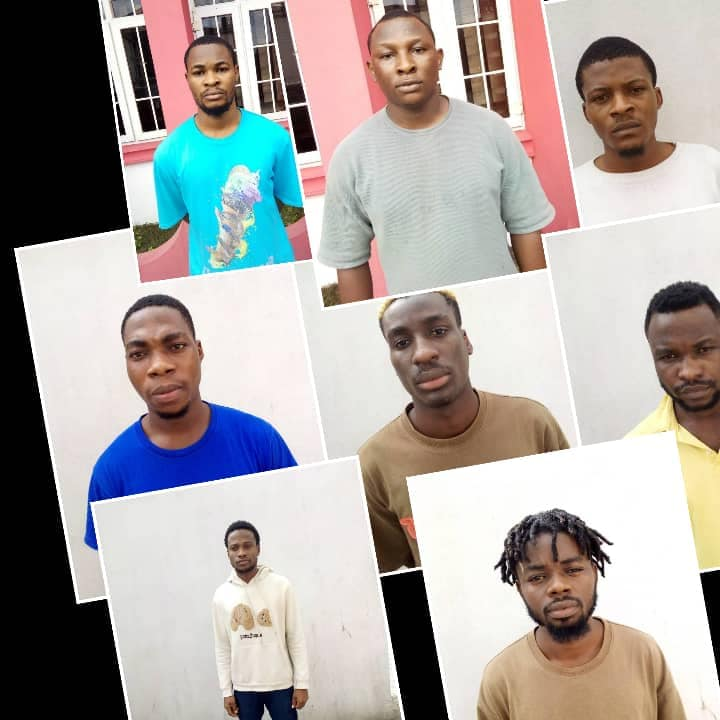 Some of the convicted internet fraudsters