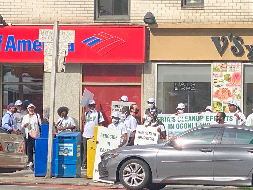 Pro-Buhari supporters in New York
