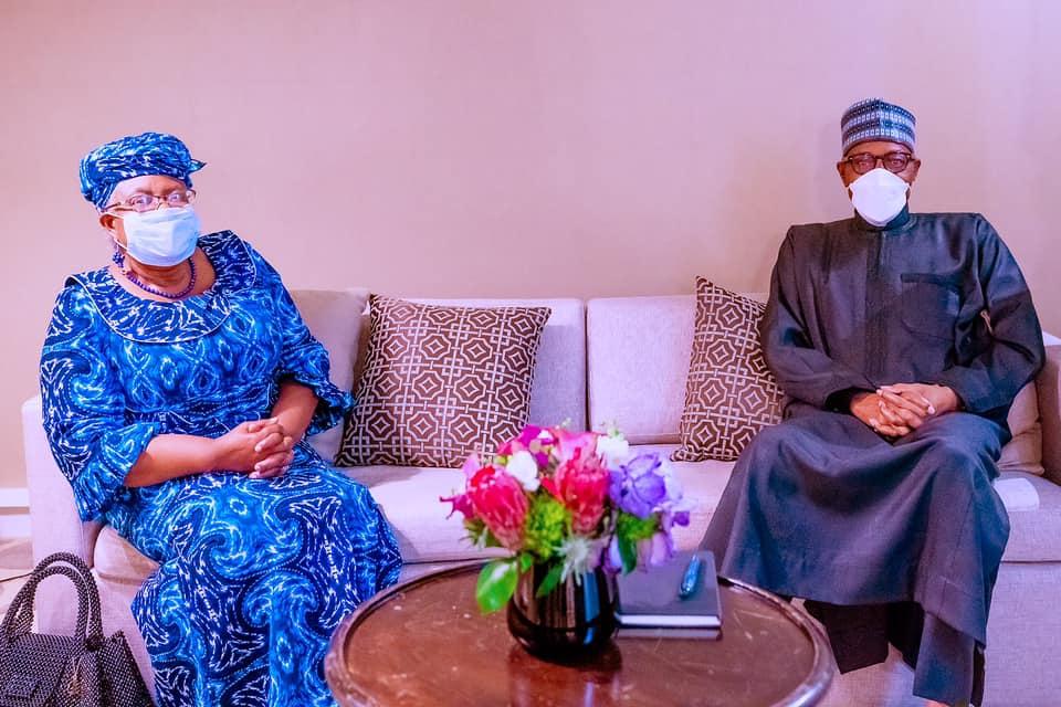 The President with Okonjo-Iweala in New York