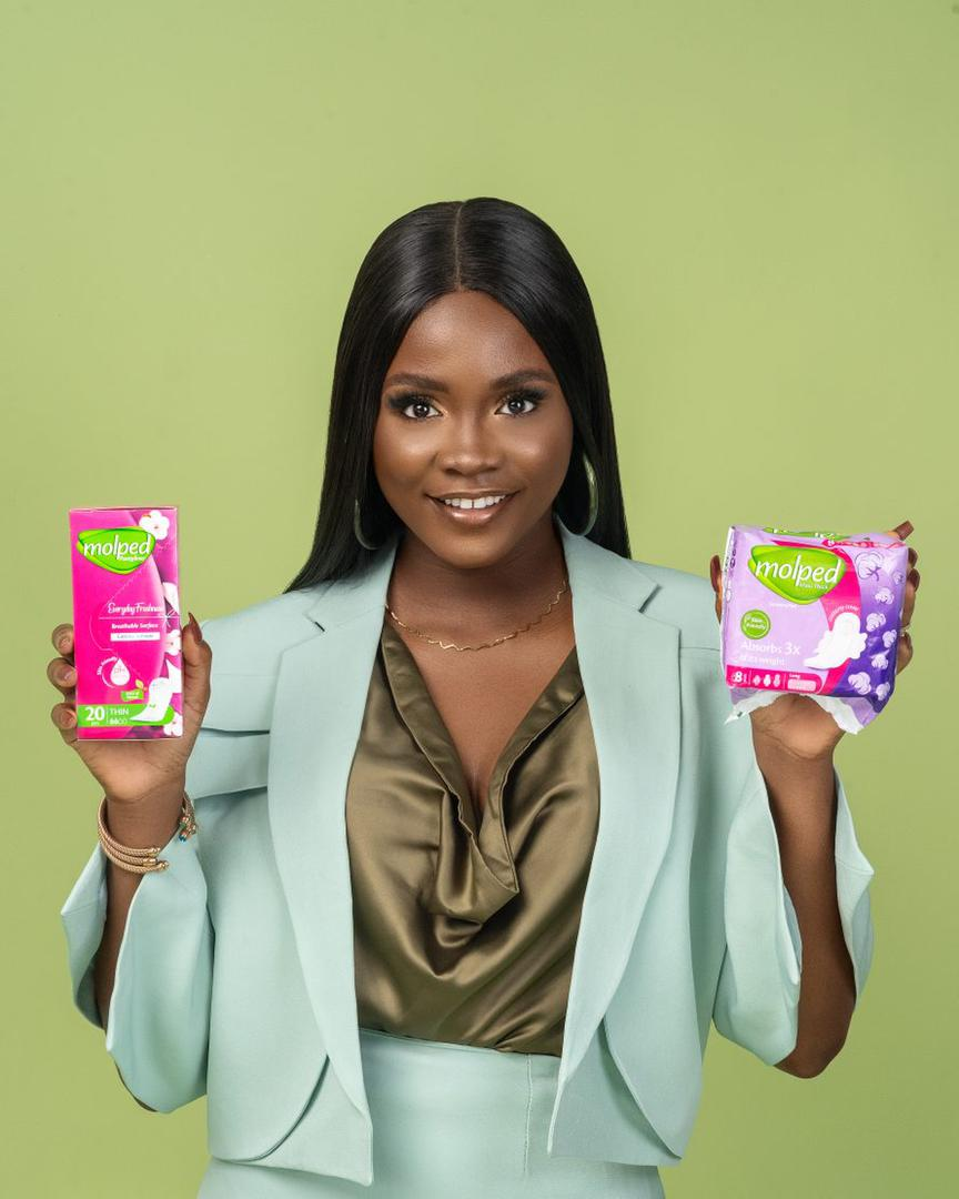 Molped sanitary pad and pantyliner