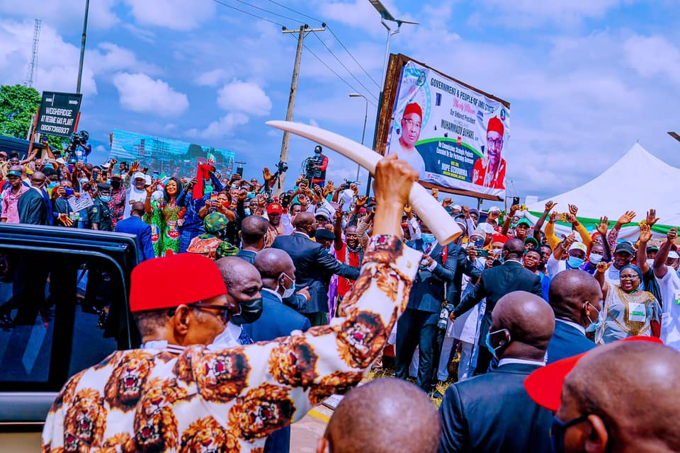 Buhari steals show in Imo