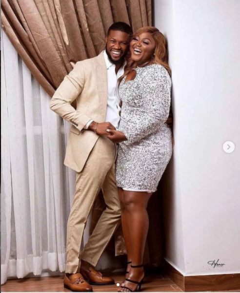 Stan Nze and his bride, Blessing Obasi