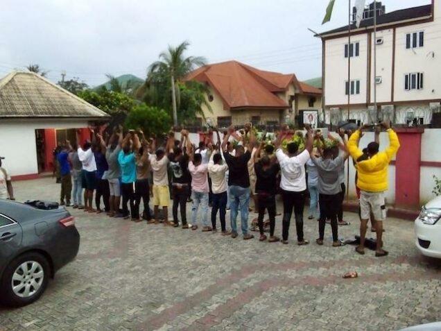 the 33 internet fraudsters arrested in Calabar