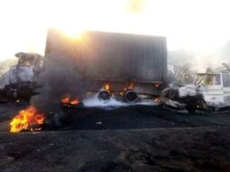 the tanker fire in Rivers Tuesday