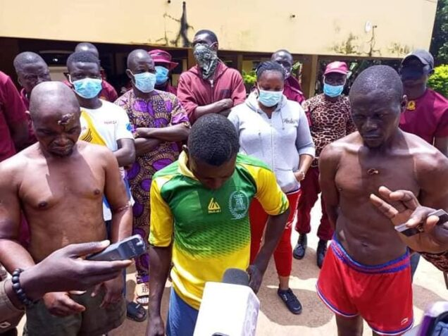the three suspects arrested by Oyo Amotekun for beheading 73 year-old man