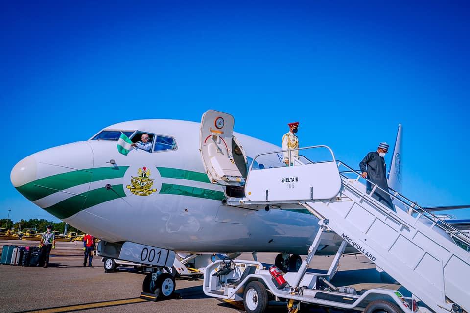 Nigerian President arrives New York for UNGA