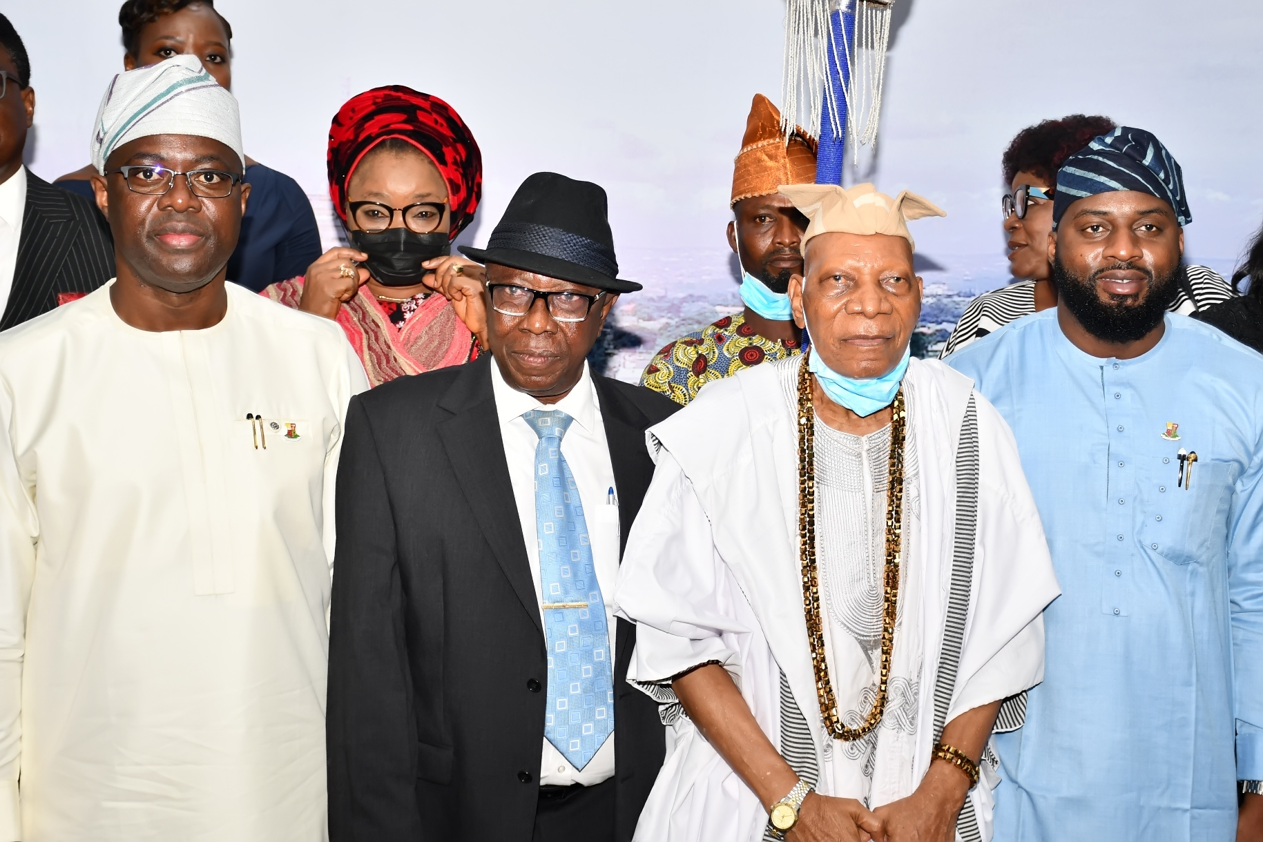 From left, Oyo State Governor, Seyi Makinde; New President, Oyo State Customary Court of Appeal Honorable Justice Moshood Abass; representative of Olubadan of Ibadanland, High Chief Eddy Oyewole and Speaker, Oyo State House of Assembly, Hon Debo Ogundoyin during the swearing-in of Justice Abass as President, Customary Court of Appeal held at Governor's Office, Secretariat, Ibadan.